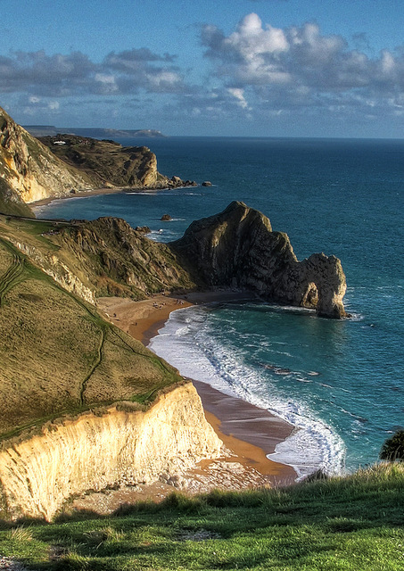The Jurassic Coast - Durdle Door from Swyre Head.